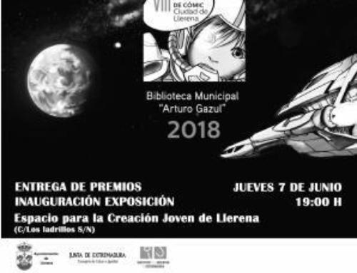 """Entrega de premios del VIII Certamen deCómic """"Ciudad de Llerena"""""""