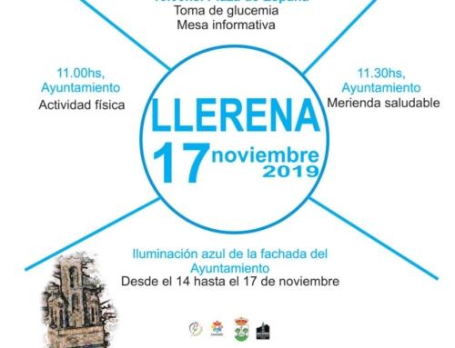 La Asociación de Diabéticos de Llerena, conmemora el Día Mundial de la Diabetes el próximo domingo
