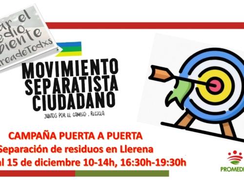 Llerena acoge entre los días 12 y 15 de diciembre la campaña puerta a puerta para enseñarnos a reciclar