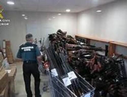 La Guardia Civil de Badajoz destruyó más de 1.100 armas en 2019