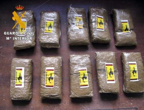 La Guardia Civil detiene a un vecino de Mérida por tráfico de drogas, al intervenirle 1.000 gramos de hachís