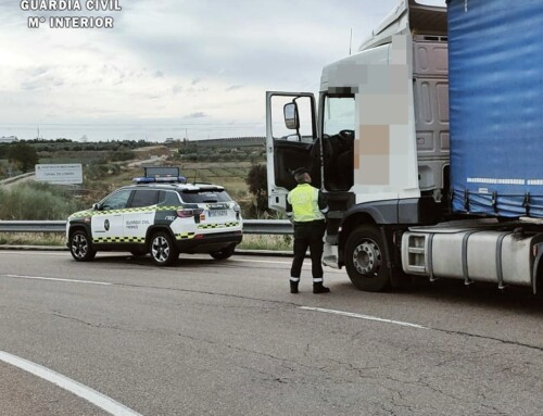 La Guardia Civil investigó al conductor de un camión de gran tonelaje cuando sextuplicaba la tasa de alcohol permitida