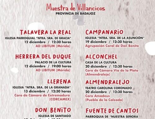 La Muestra Provincial de Villancicos de Diputación llega a Llerena el día 13