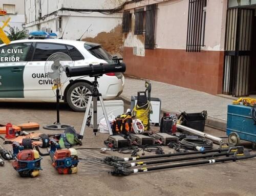 La Guardia Civil detiene a un vecino de Almendralejo por la comisión de una docena de robos en casas de campo y naves agrícolas