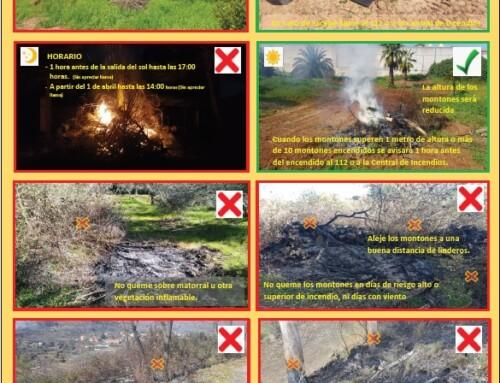 La Junta de Extremadura insta a los ayuntamientos a concienciar sobre buenas prácticas en las quemas para evitar incendios forestales